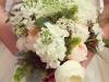 Peach and White Garden Bouquet