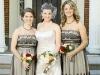 Vintage Fall Bride and Bridesmaids.